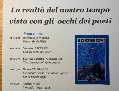 """Testimonianze"" dedicata alla Poesia"